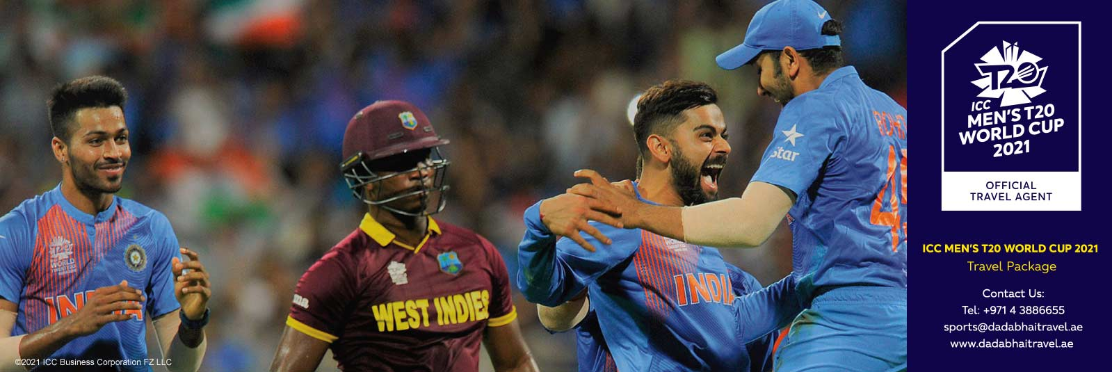 ICC Men's T20 World Cup 2021 Book Your Match Ticket Inclusive Travel Package