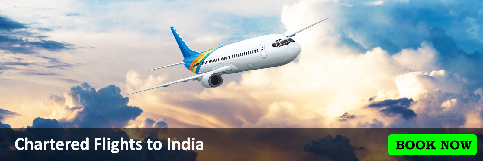 Book Chartered Flights to India from Dadabhai Travel