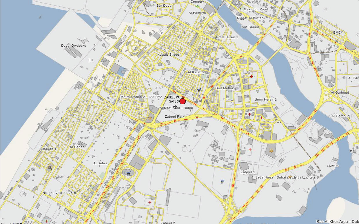 Dubai Location Map on