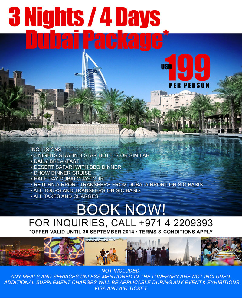 Christmas Travel Package Deals: Dubai Packages, 3 Nights/ 4 Days