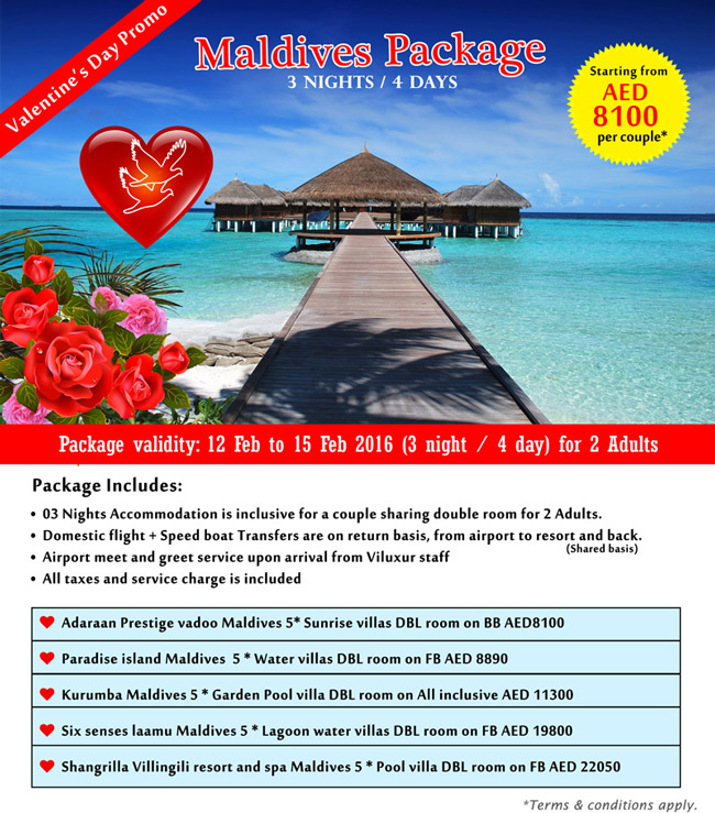 Valentine S Day Promo Maldives Package For 3 Nights 4 Days