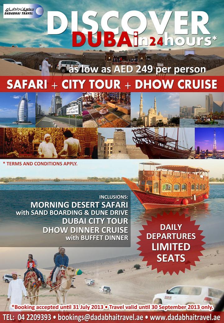 Discover Dubai In 24 Hours Safari City Tour Dhow Cruise