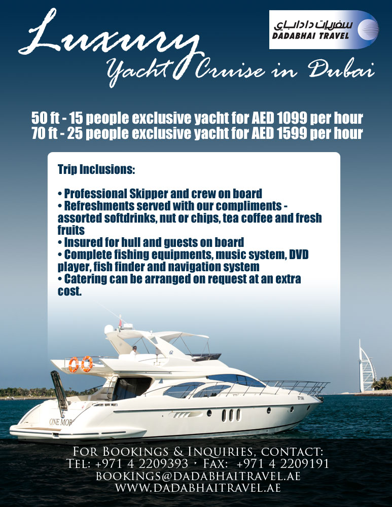 Yacht Package - Luxury Cruise in Dubair